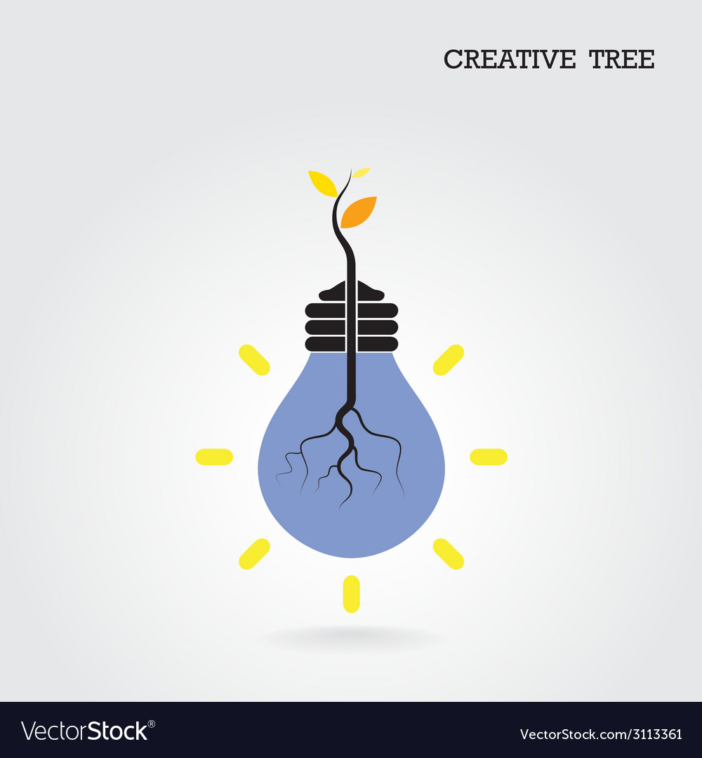 Creative and knowledge tree concept vector | Price: 1 Credit (USD $1)