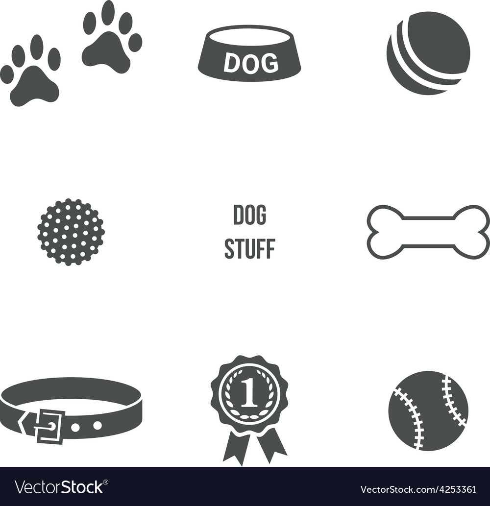 Dog stuff set vector | Price: 1 Credit (USD $1)