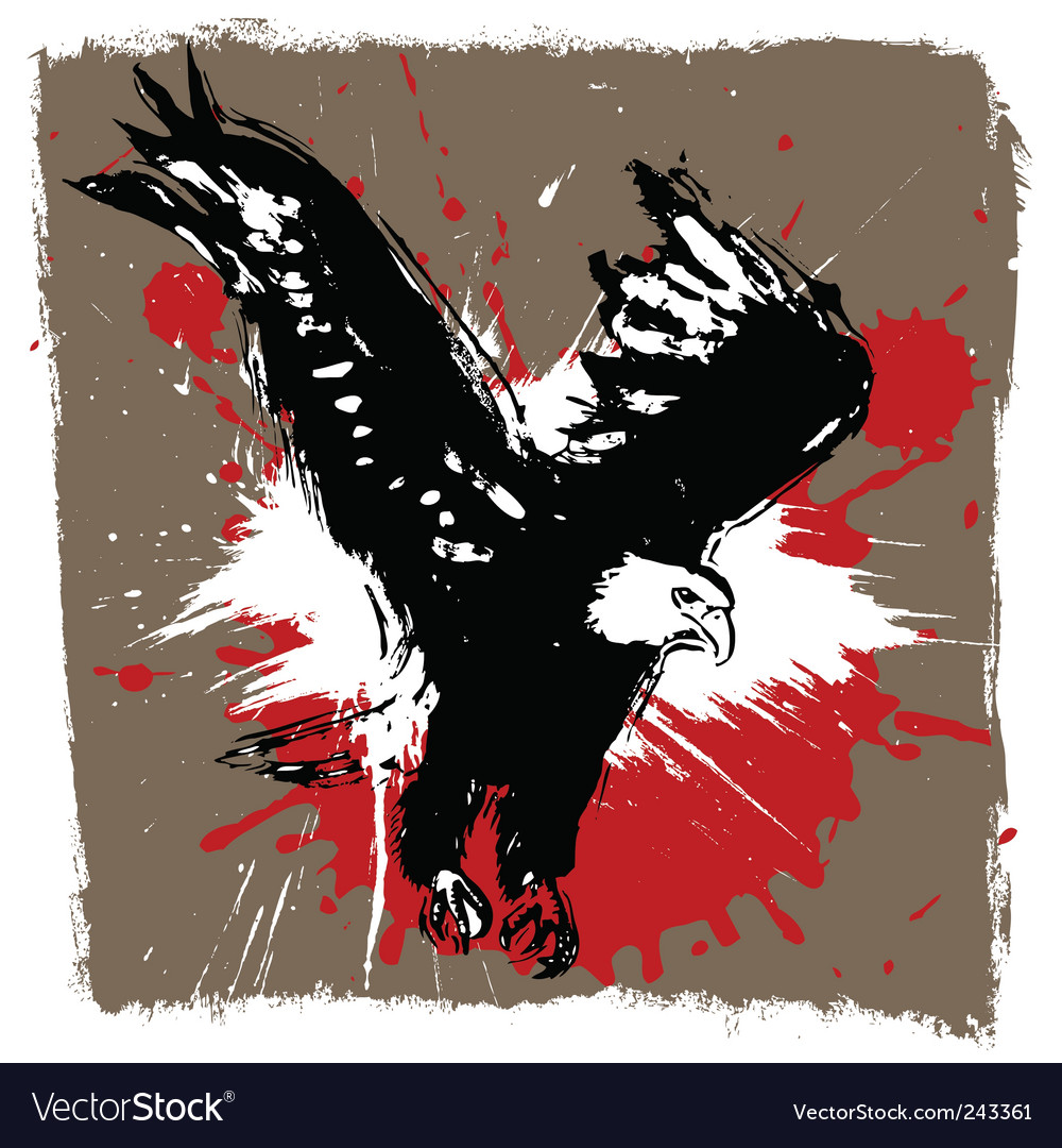 Eagle grunge design vector | Price: 1 Credit (USD $1)