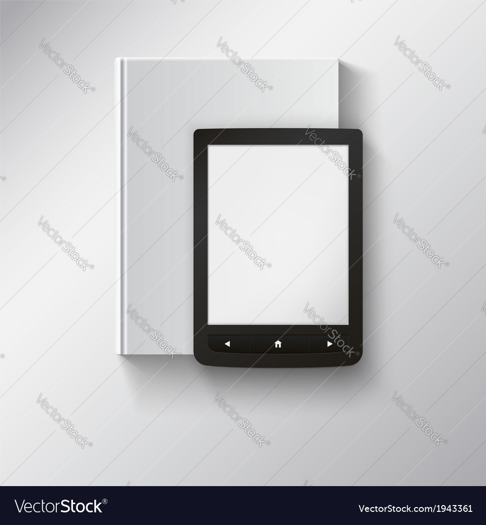 E-book lying on top of book with place for your vector | Price: 1 Credit (USD $1)