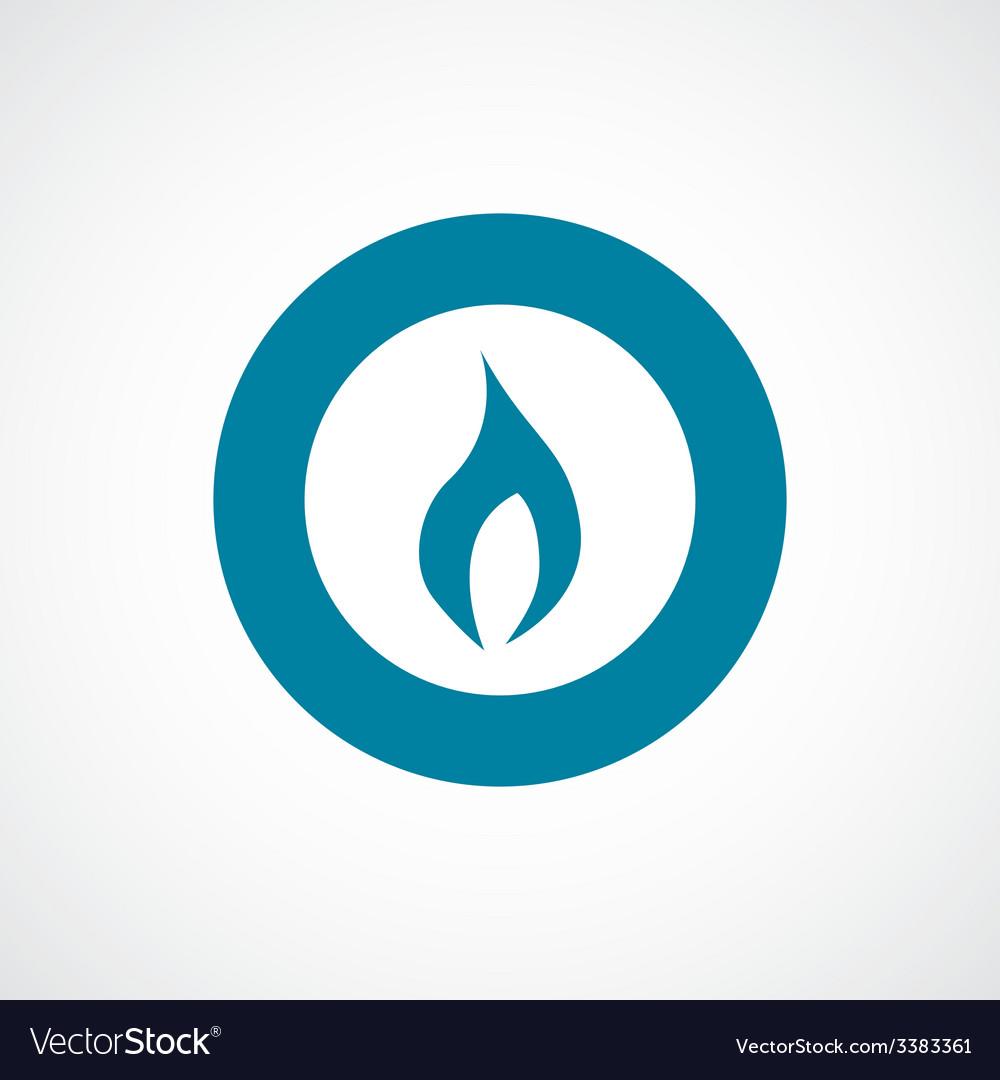 Fire bold blue border circle icon vector | Price: 1 Credit (USD $1)