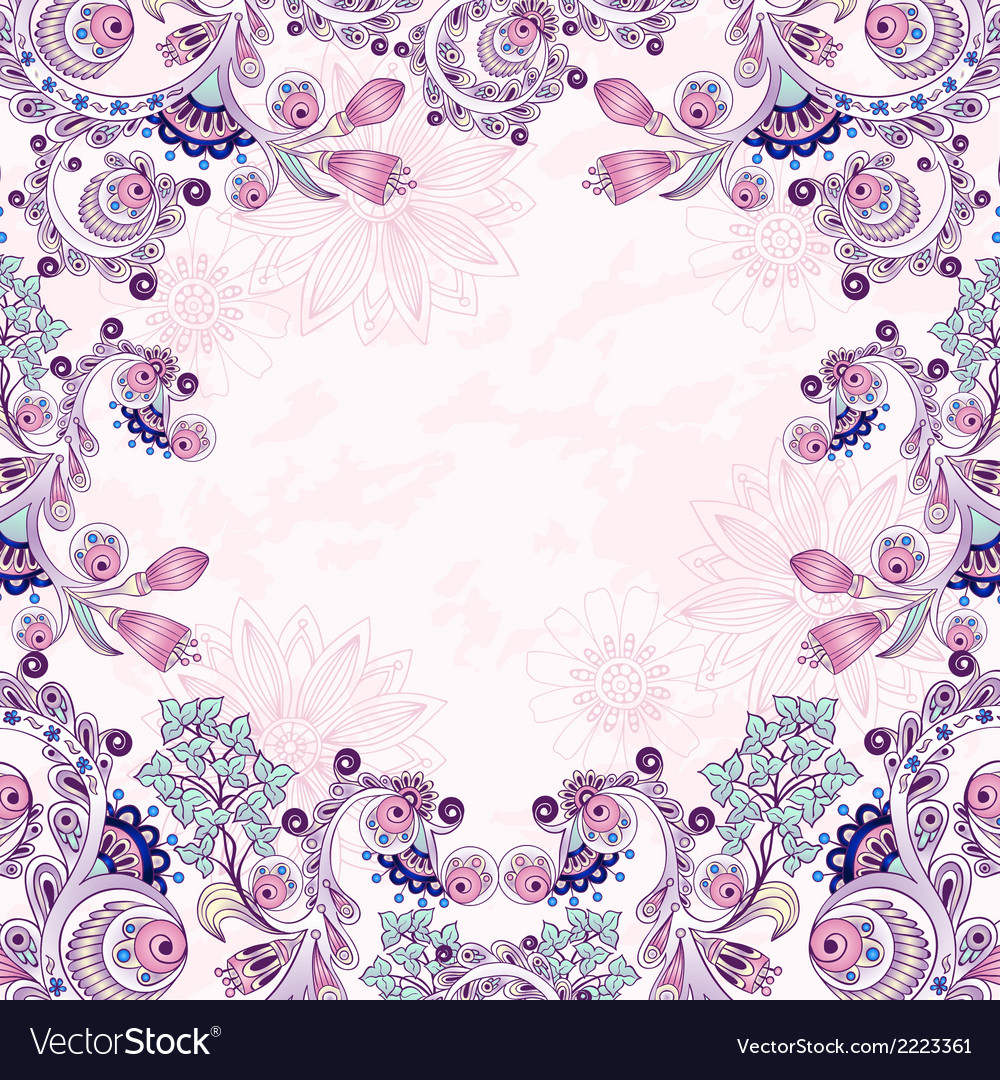 Floral decorative background vector | Price: 1 Credit (USD $1)