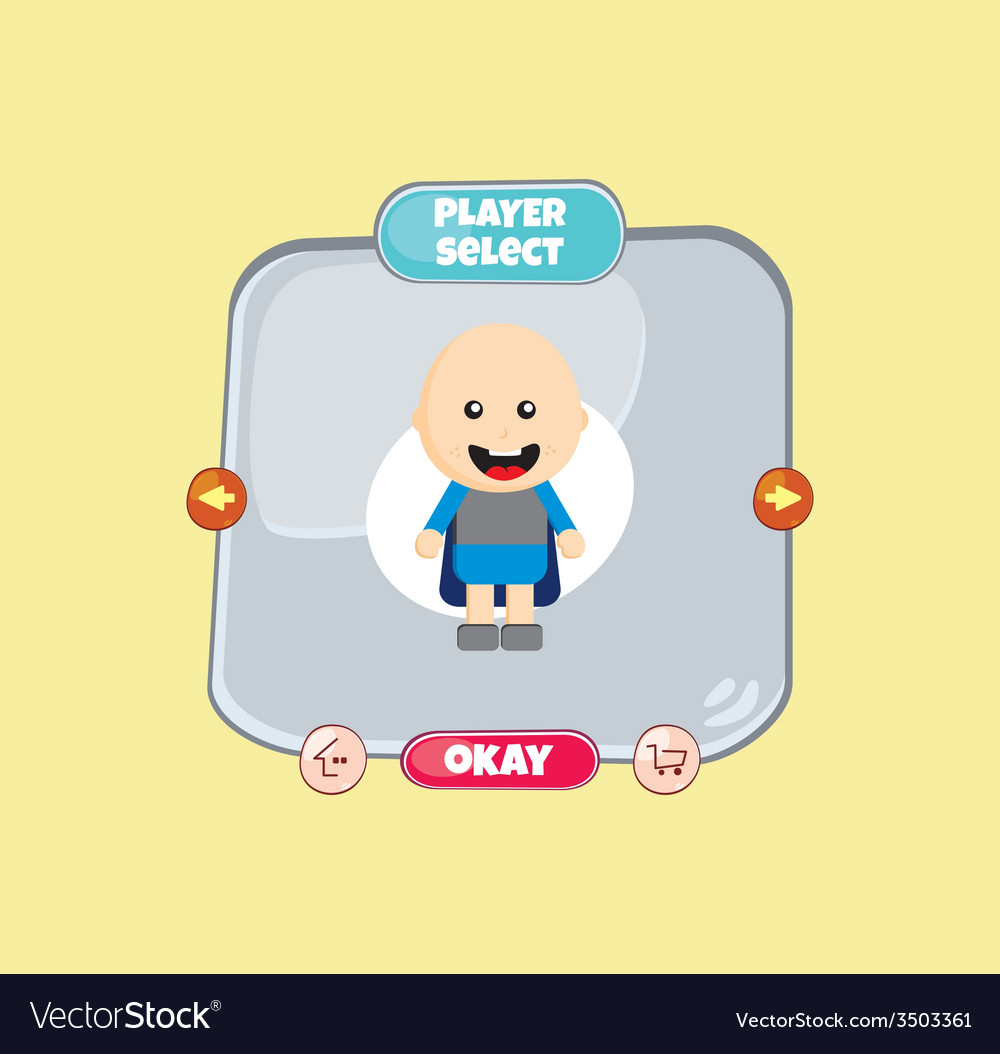 Hero character option game assets element vector | Price: 1 Credit (USD $1)
