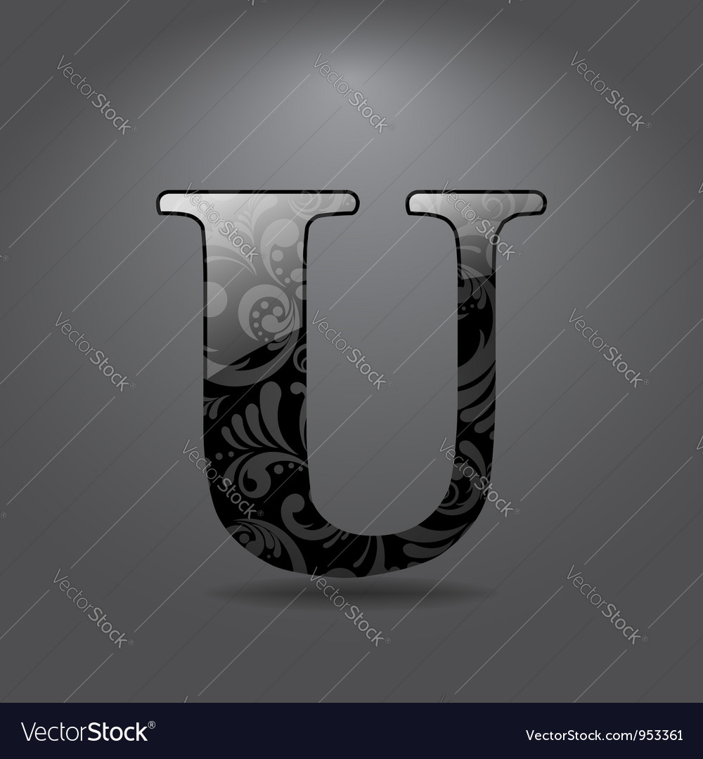 Letter u vector | Price: 1 Credit (USD $1)