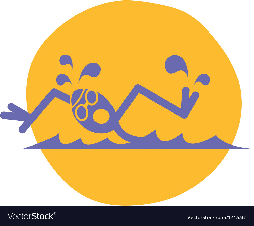 Swimmer logo vector | Price: 1 Credit (USD $1)