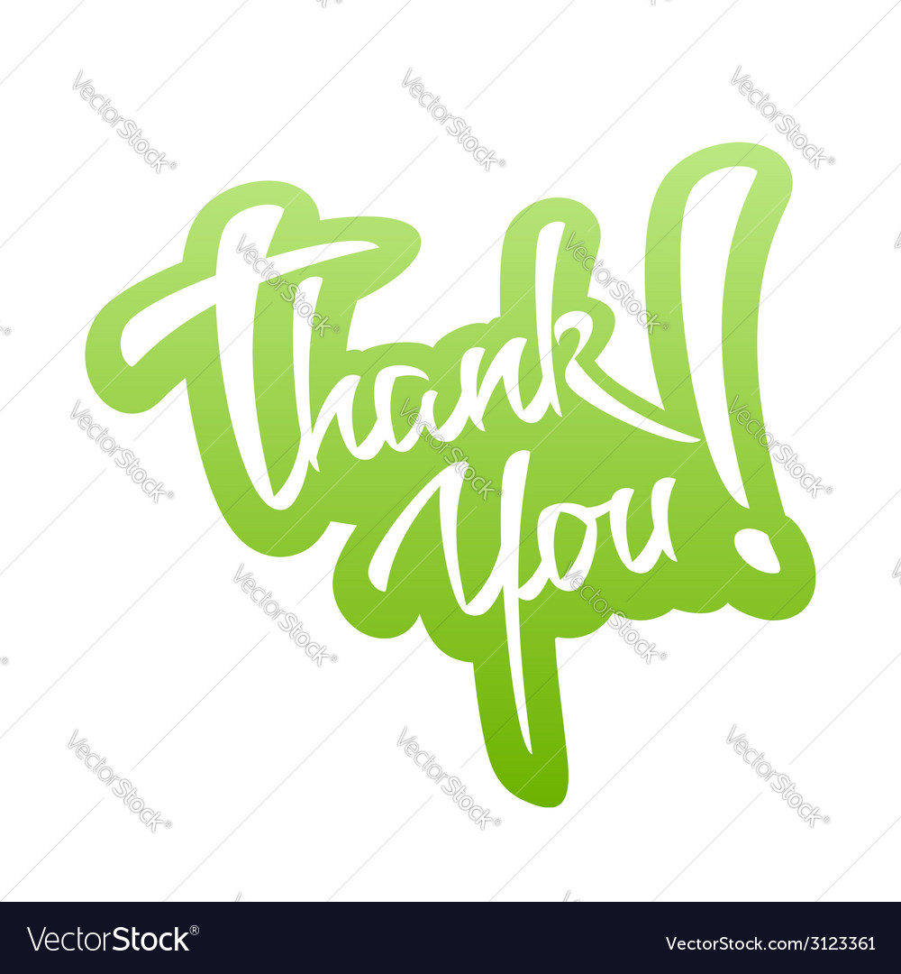 Thank you lettering sticker vector | Price: 1 Credit (USD $1)