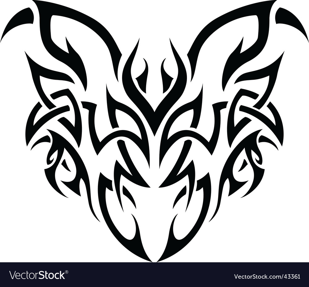 Tribal demon vector | Price: 1 Credit (USD $1)
