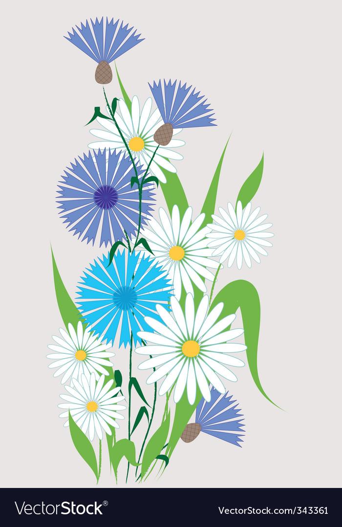 Wildflowers vector | Price: 1 Credit (USD $1)