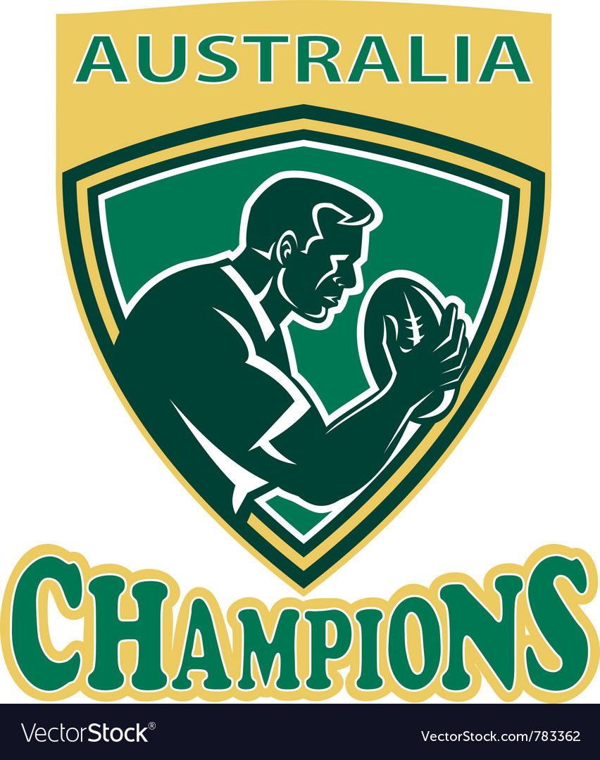 Australia rugby champions vector   Price: 1 Credit (USD $1)