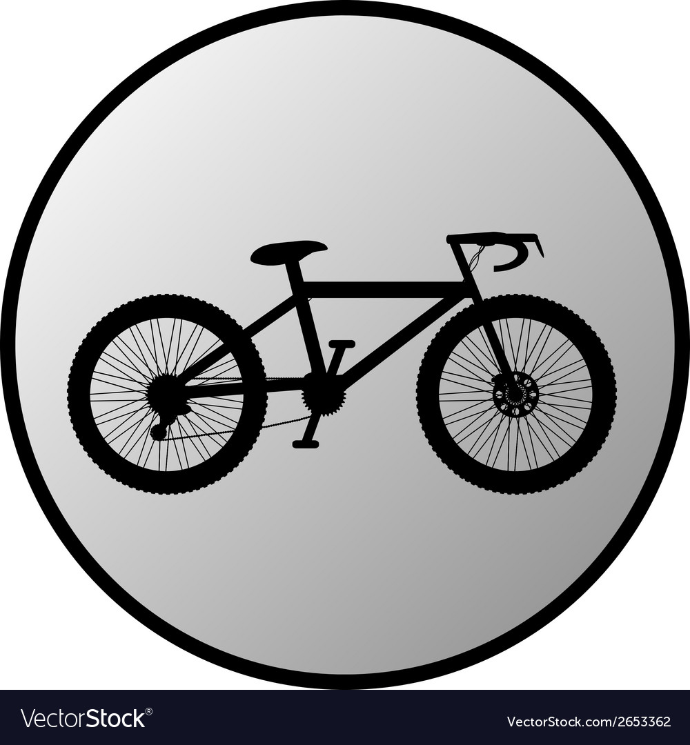 Bike button vector | Price: 1 Credit (USD $1)
