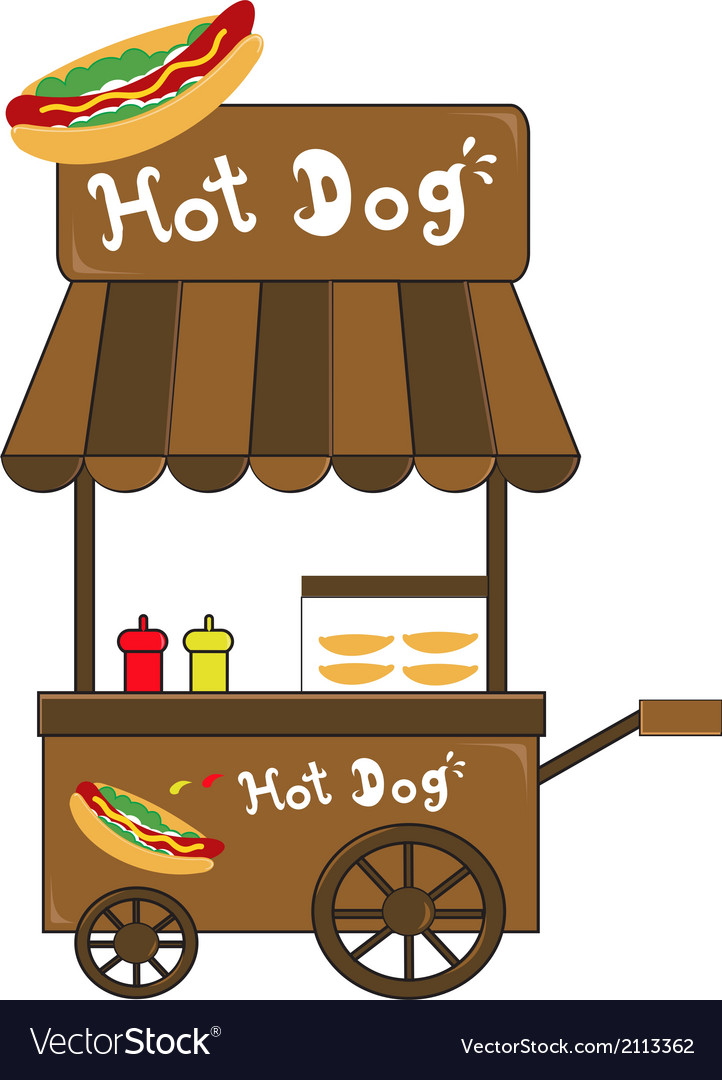 Booth stand hot dog vendor vector | Price: 1 Credit (USD $1)