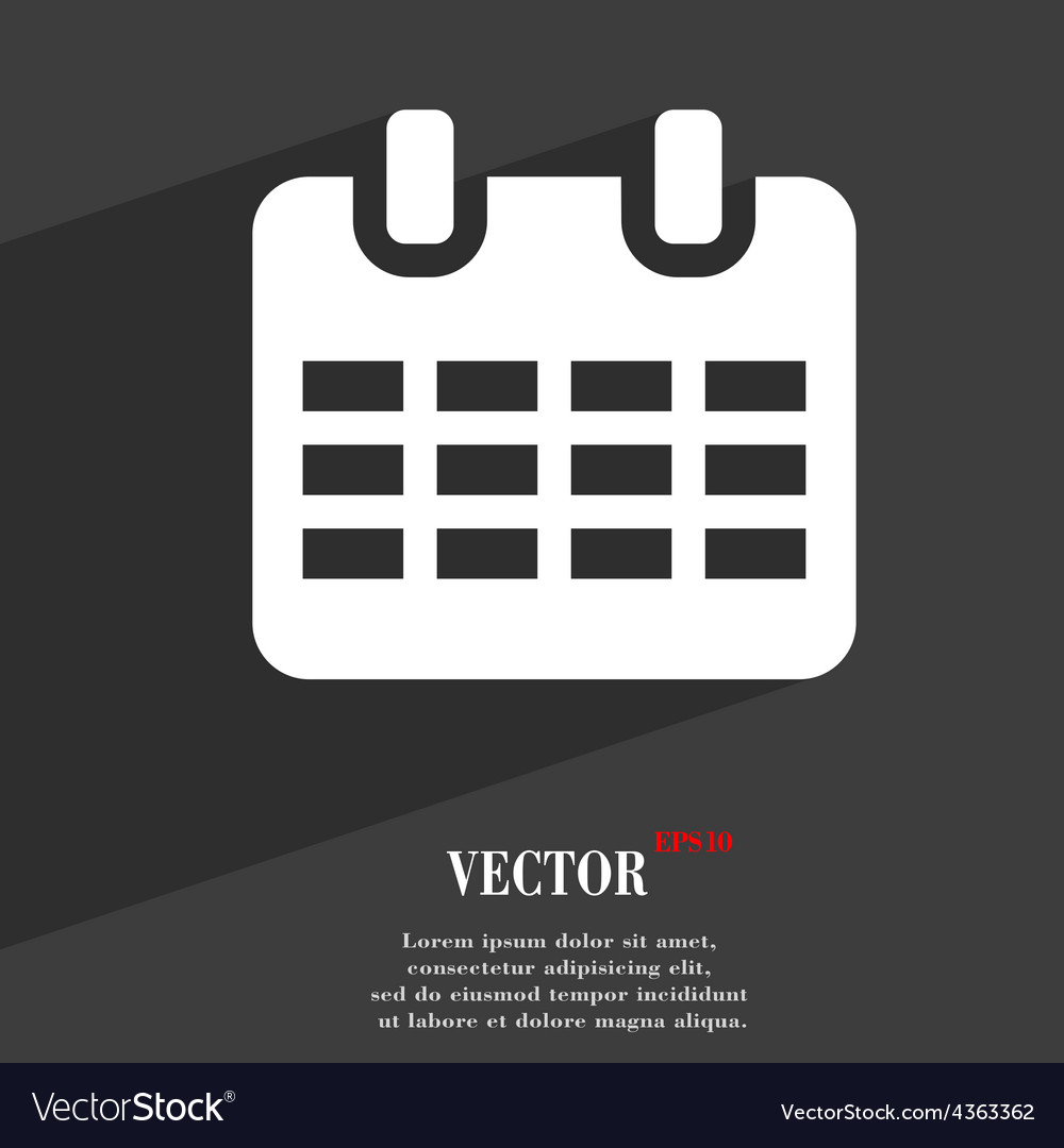 Calendar date or event reminder icon symbol flat vector | Price: 1 Credit (USD $1)