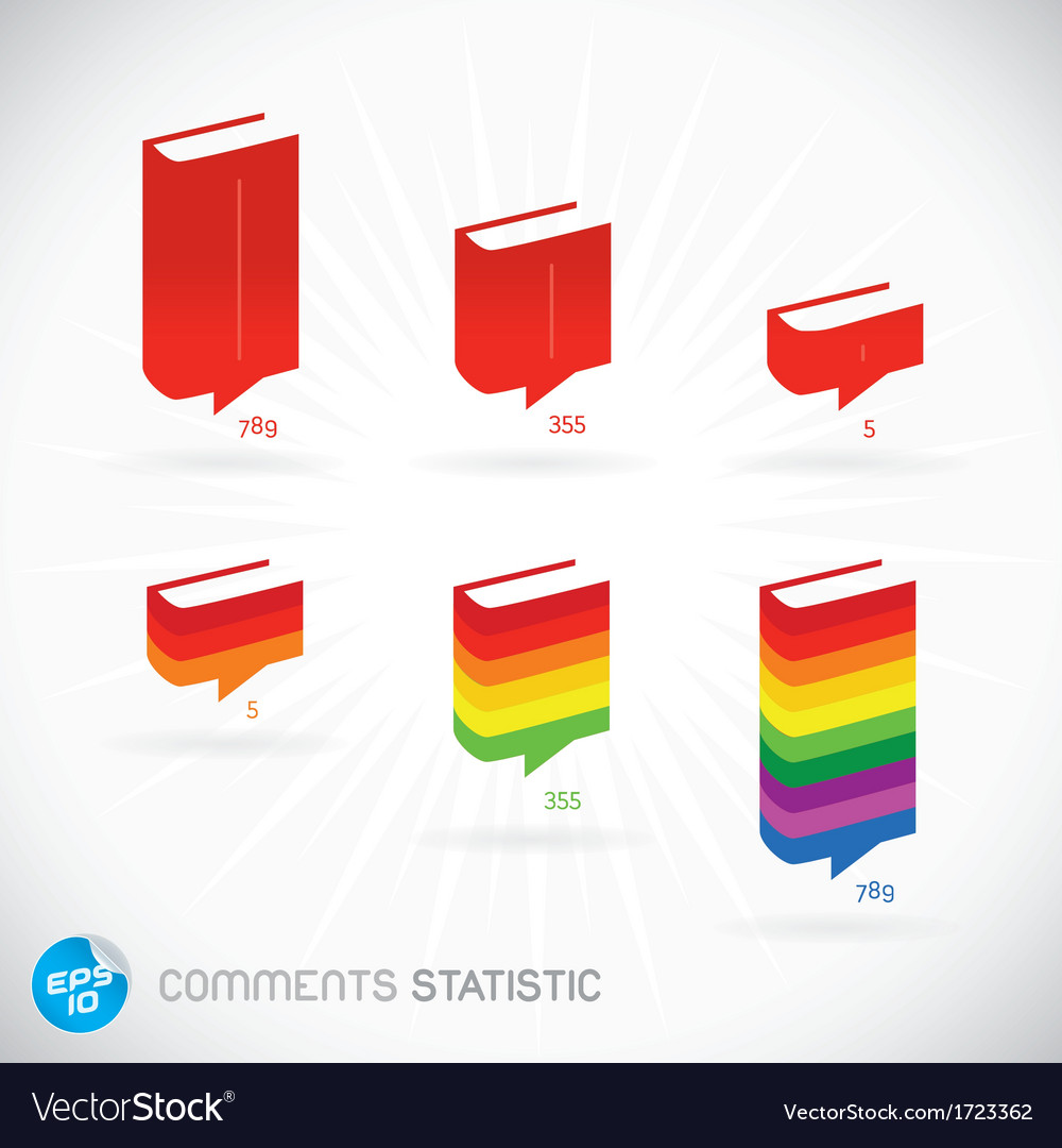 Comments statistic symbols vector | Price: 1 Credit (USD $1)
