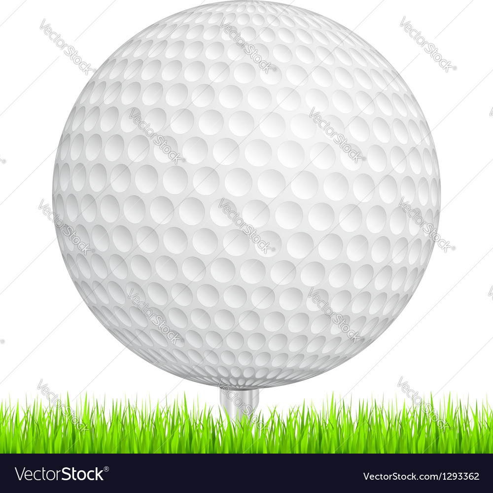 Golf ball in grass vector | Price: 1 Credit (USD $1)