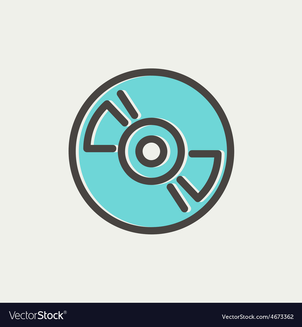 Reel tape deck player recorder thin line icon vector | Price: 1 Credit (USD $1)