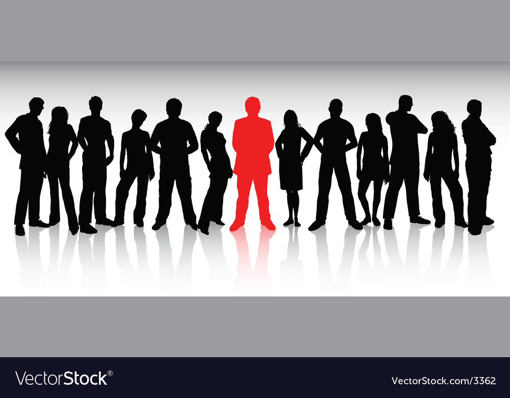 Stand out from the crowd vector | Price: 3 Credit (USD $3)