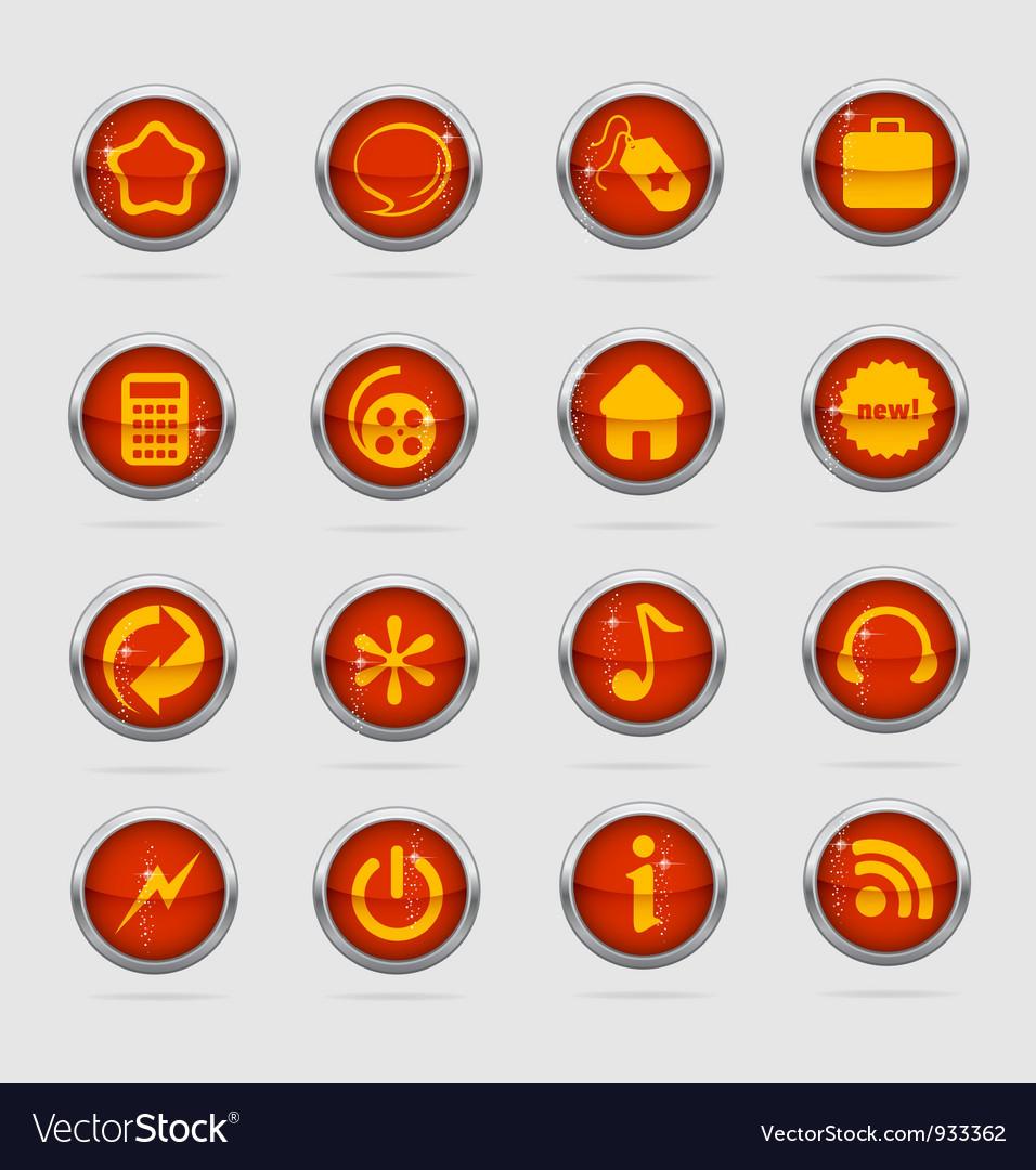 Web and creative metal cirlcle symbols vector | Price: 1 Credit (USD $1)