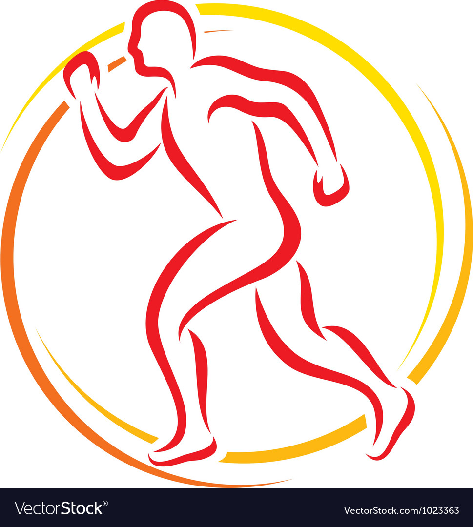 Abstract runner - athletic vector | Price: 1 Credit (USD $1)