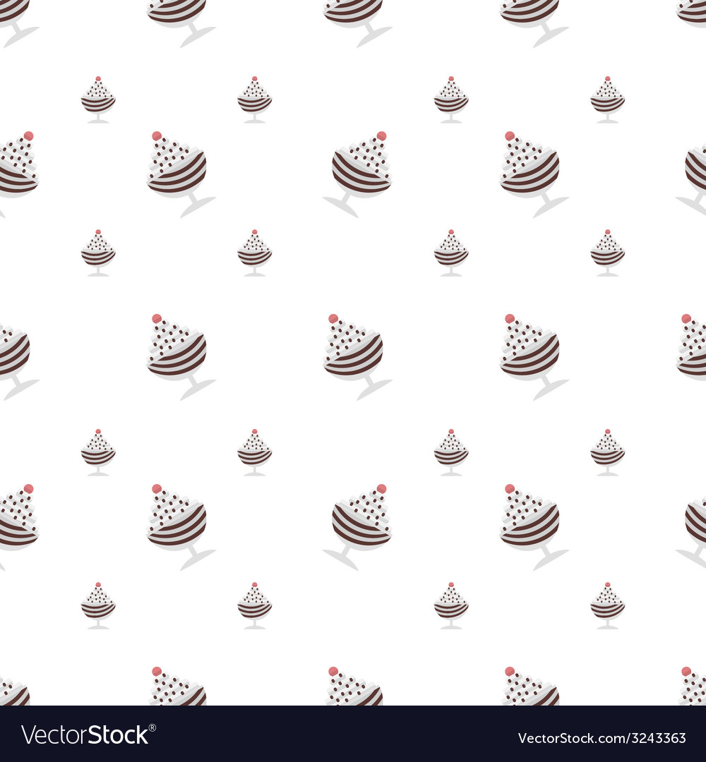 Background for chocolate ice cream in cup vector | Price: 1 Credit (USD $1)