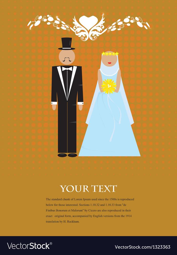 The couple wedding vector | Price: 1 Credit (USD $1)