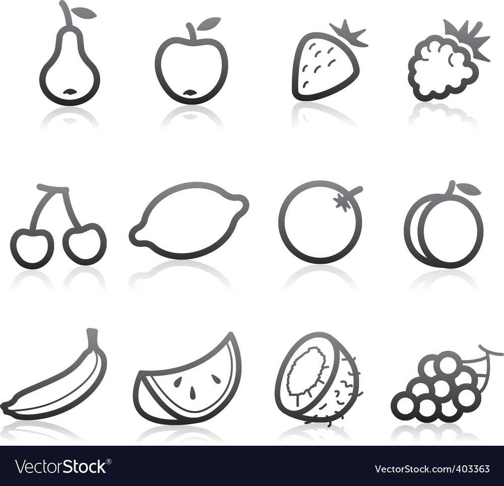 Fruits vector | Price: 1 Credit (USD $1)