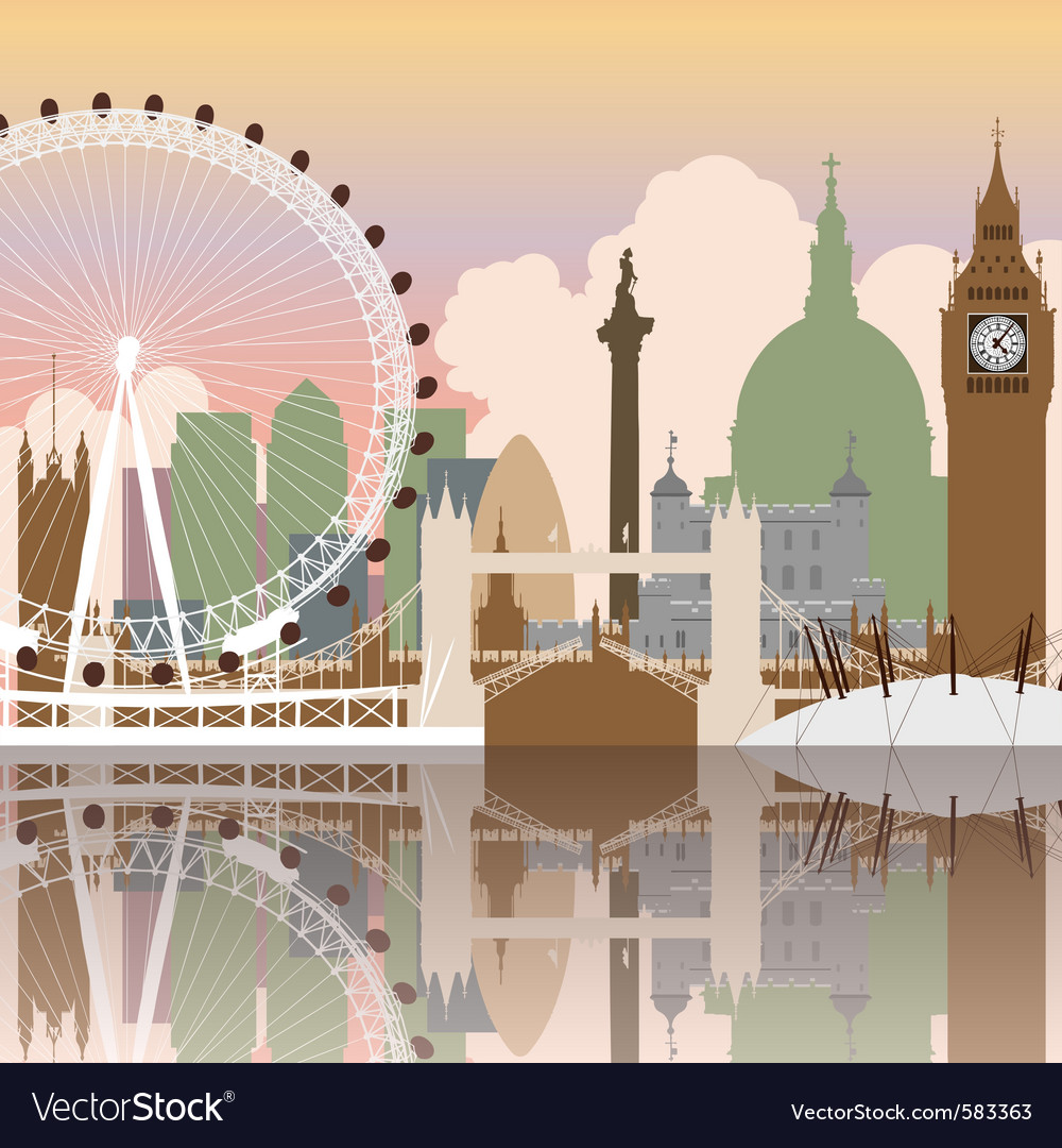 London cityscape vector | Price: 3 Credit (USD $3)