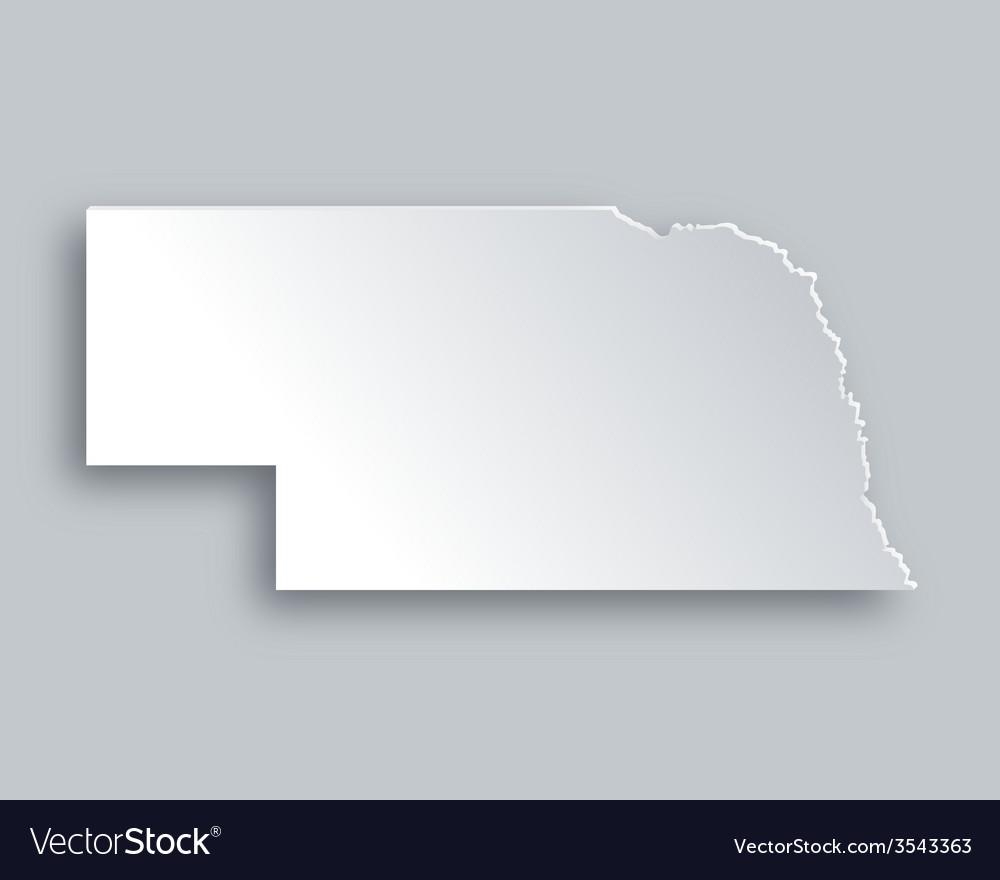 Map of nebraska vector | Price: 1 Credit (USD $1)