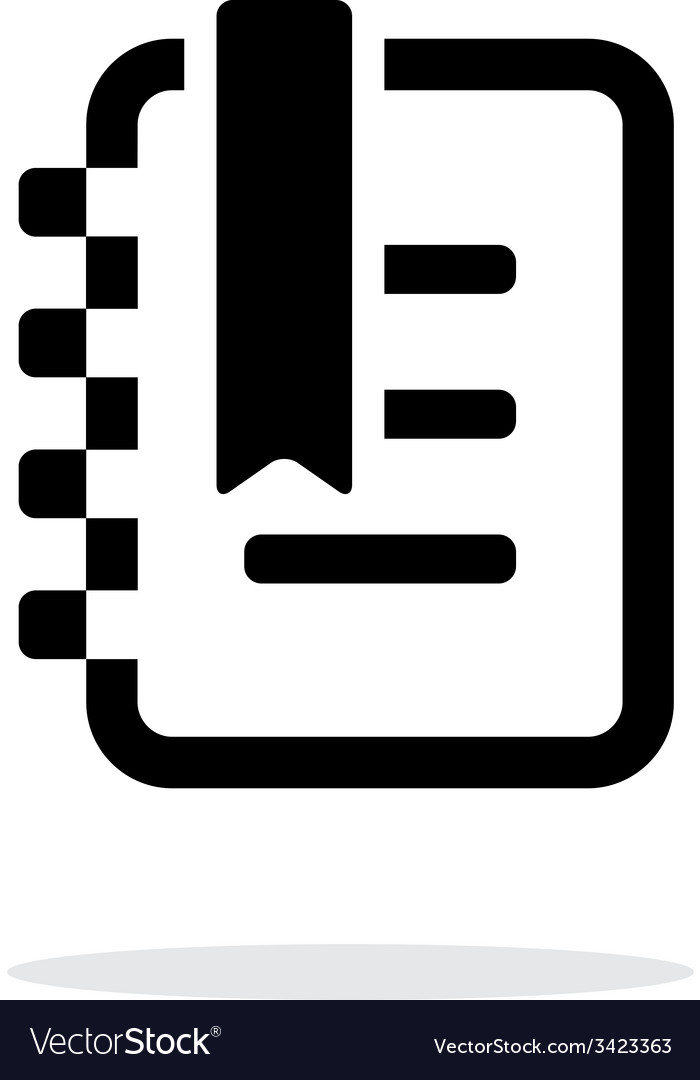 Notepad with label simple icon on white background vector   Price: 1 Credit (USD $1)