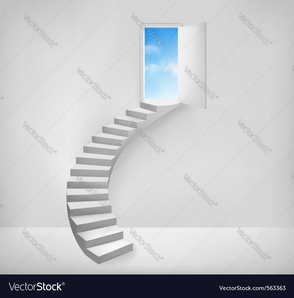 Open door to a dreamy place vector | Price: 1 Credit (USD $1)