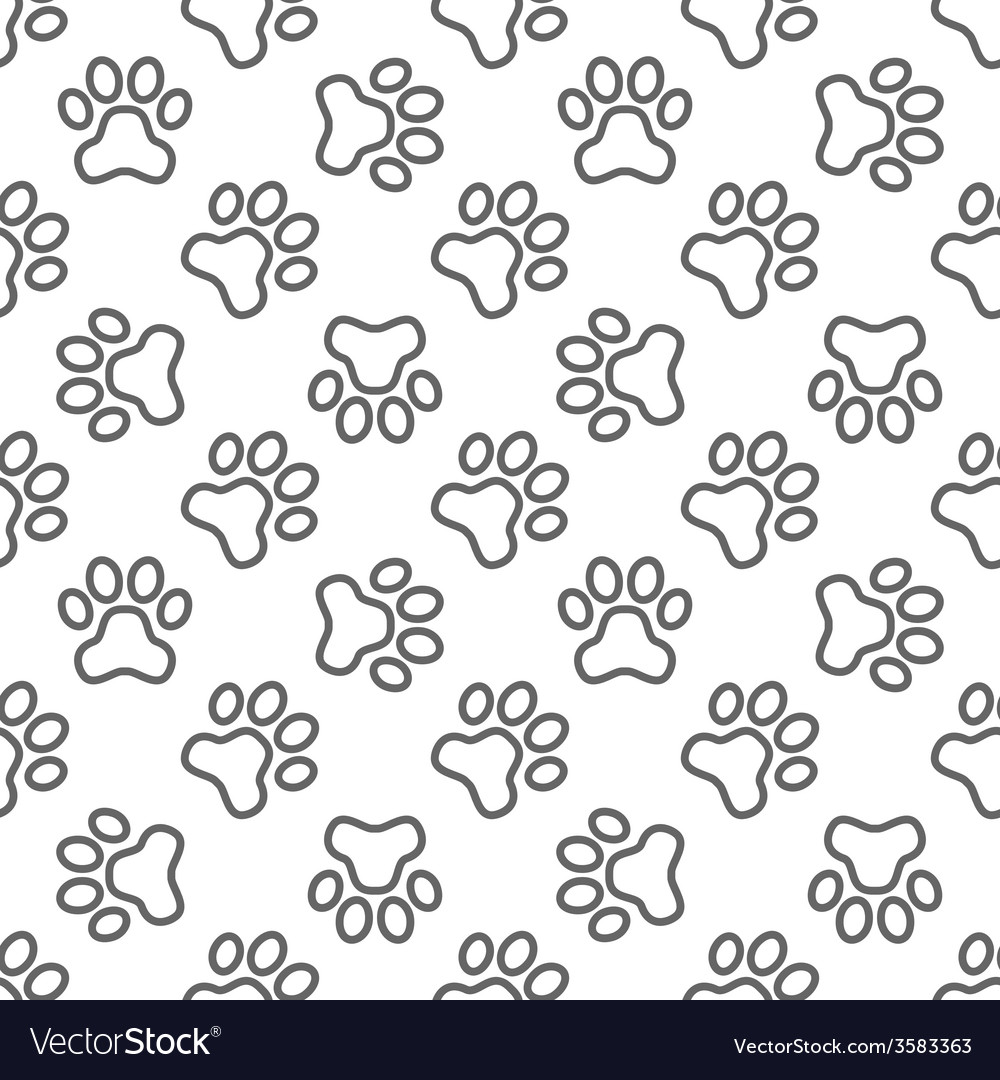 Pet paw pattern - seamless texture vector | Price: 1 Credit (USD $1)