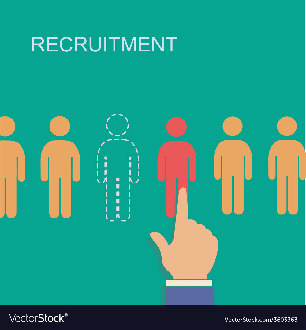 Recruitment and human resource infographics vector | Price: 1 Credit (USD $1)