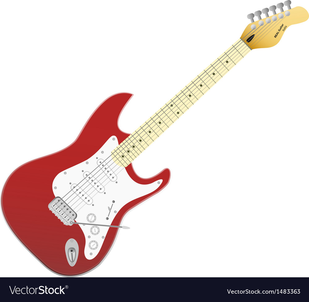 Red electro guitar music in your life vector   Price: 1 Credit (USD $1)
