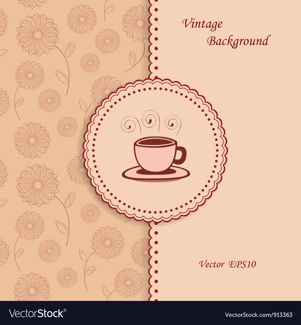 Retro coffee background vector | Price: 1 Credit (USD $1)