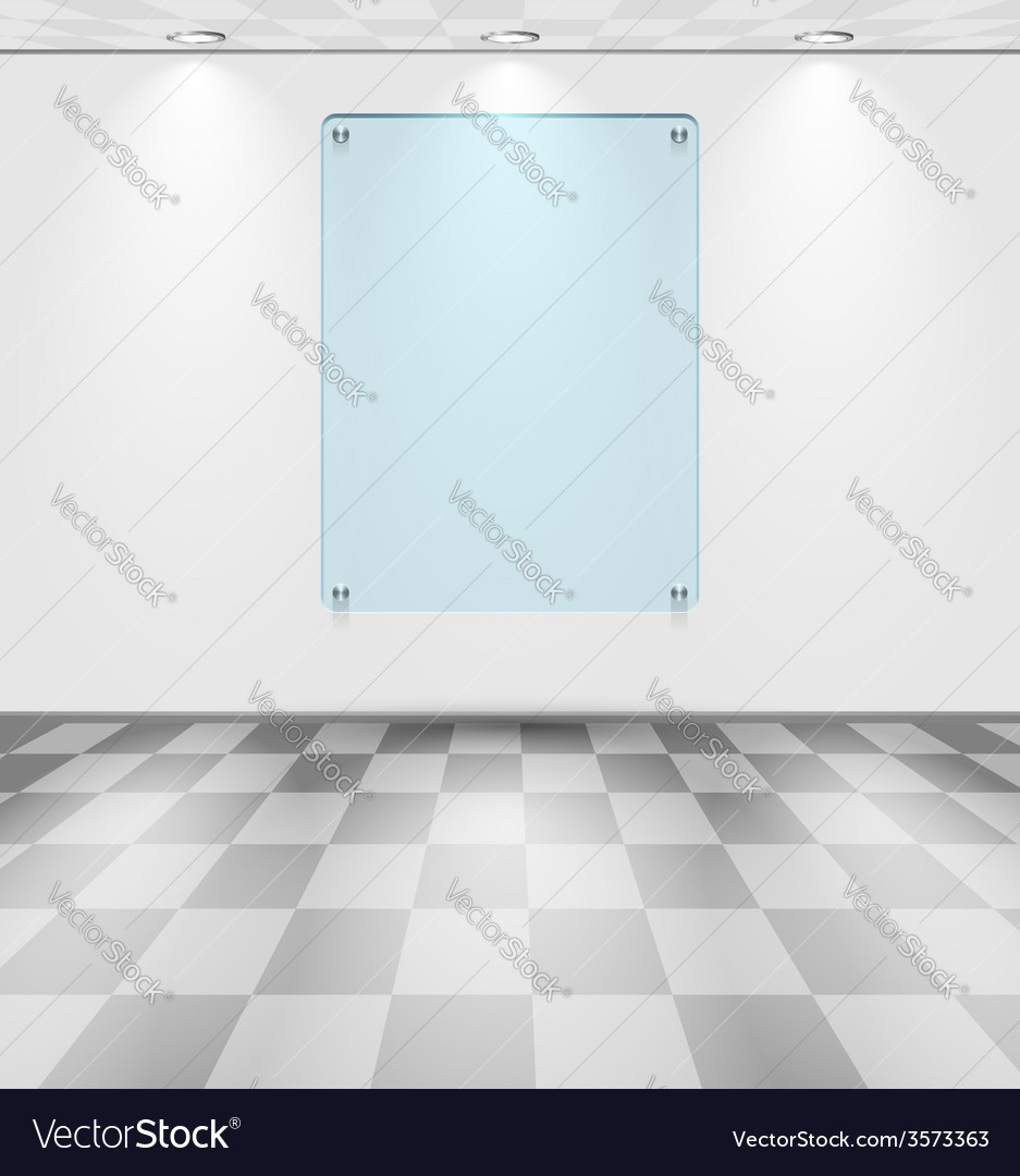 Room with glass placeholder vector | Price: 1 Credit (USD $1)