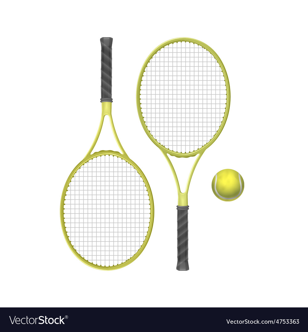Tennis rackets with ball vector | Price: 3 Credit (USD $3)