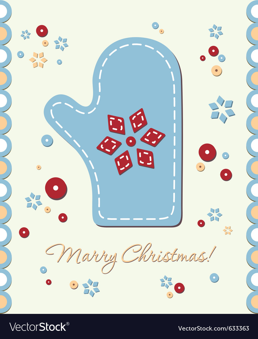 Vintage holiday patchwork card vector | Price: 1 Credit (USD $1)
