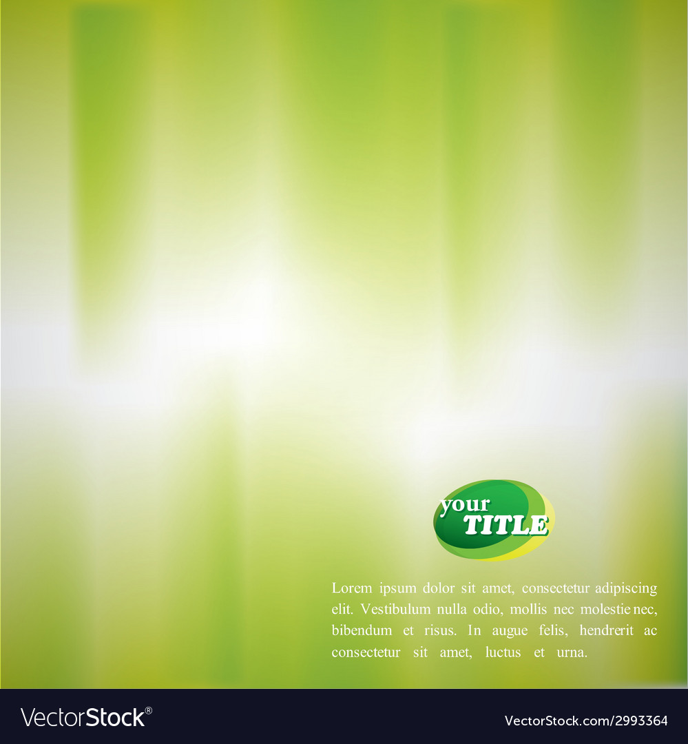 Abstract green background with blurred watercolor vector | Price: 1 Credit (USD $1)