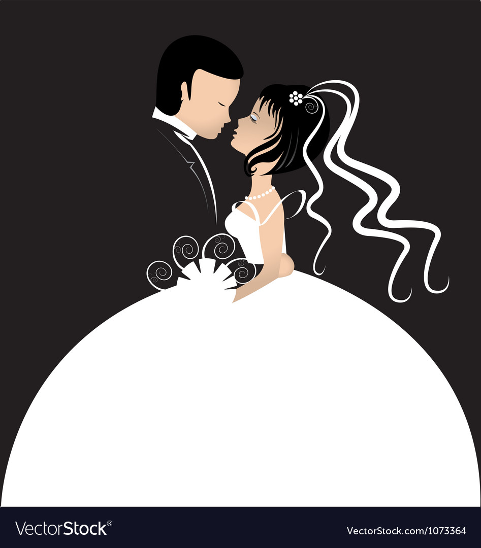 Bride and groom invitation card vector | Price: 1 Credit (USD $1)