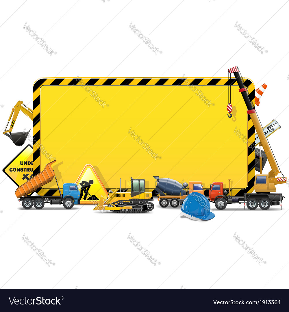 Construction board vector | Price: 1 Credit (USD $1)