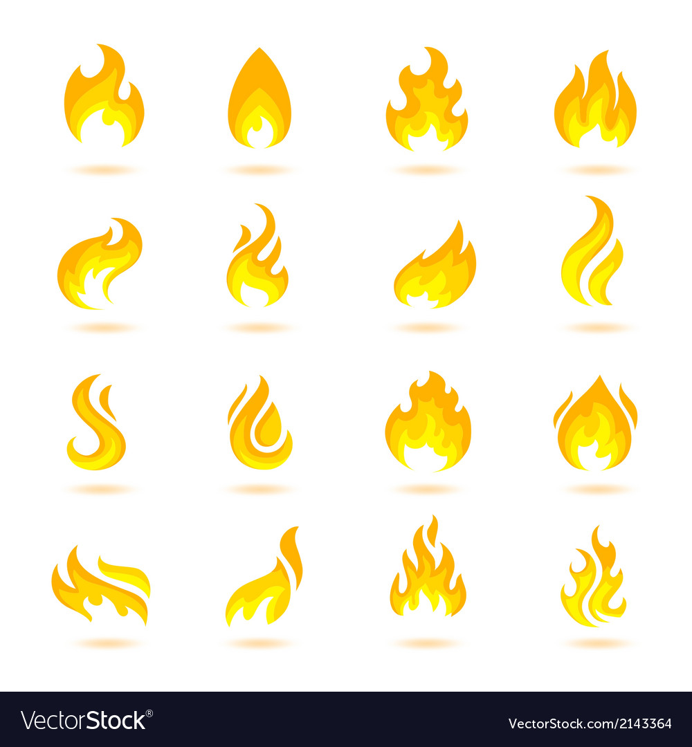 Fire flames icons vector | Price: 1 Credit (USD $1)