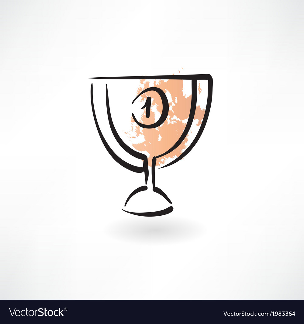 Goblet first place grunge icon vector | Price: 1 Credit (USD $1)
