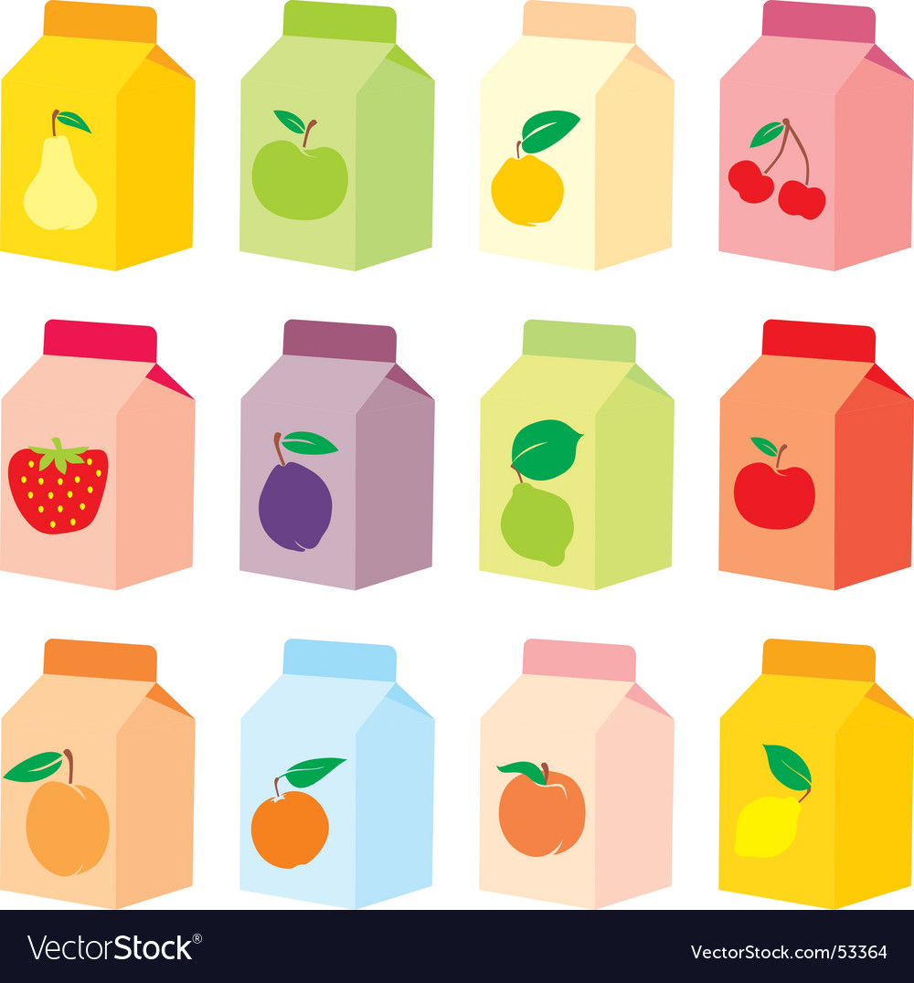 Juice carton vector | Price: 3 Credit (USD $3)