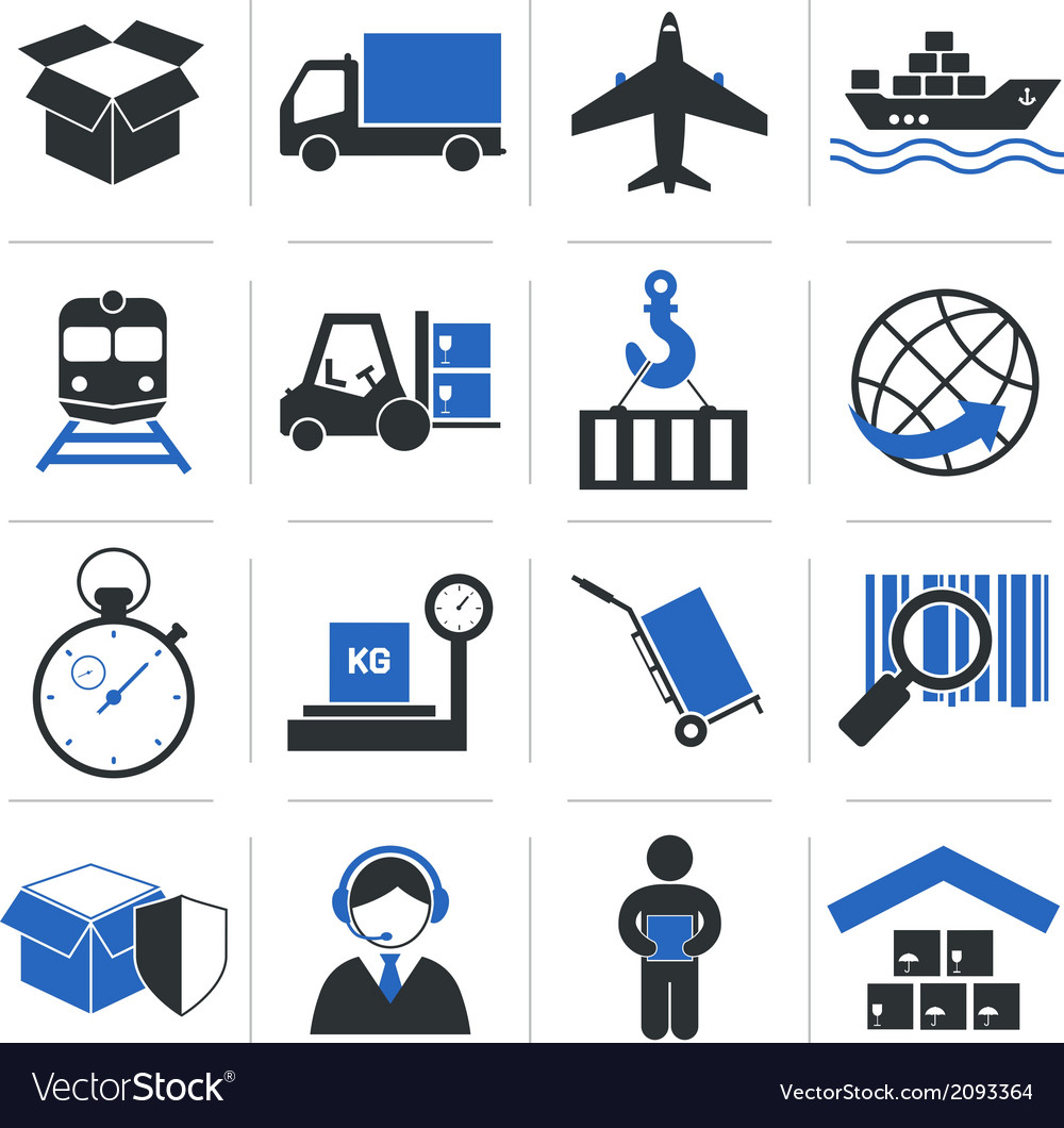 Logistic service icons vector | Price: 1 Credit (USD $1)