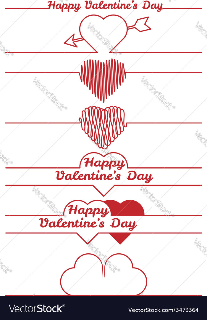 Valentines day design elements - dividers vector | Price: 1 Credit (USD $1)