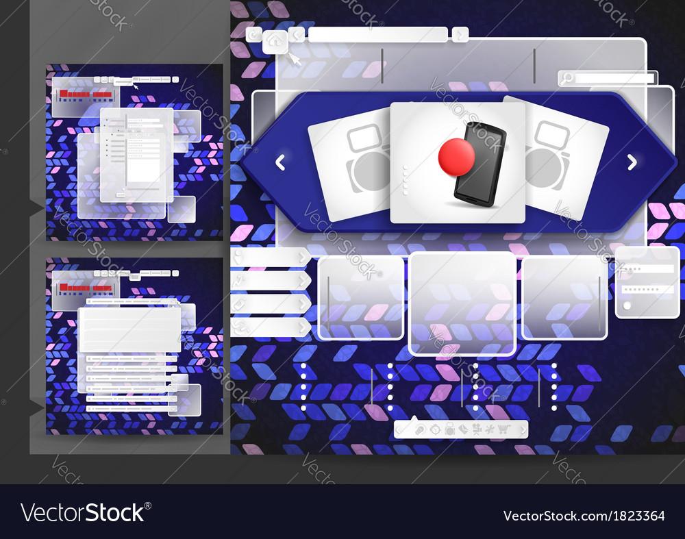 Website design template menu elements vector | Price: 1 Credit (USD $1)