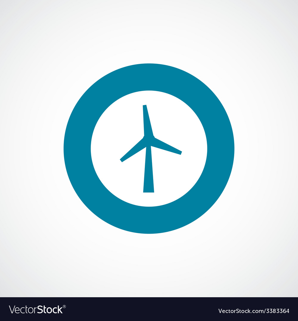 Wind mill bold blue border circle icon vector | Price: 1 Credit (USD $1)