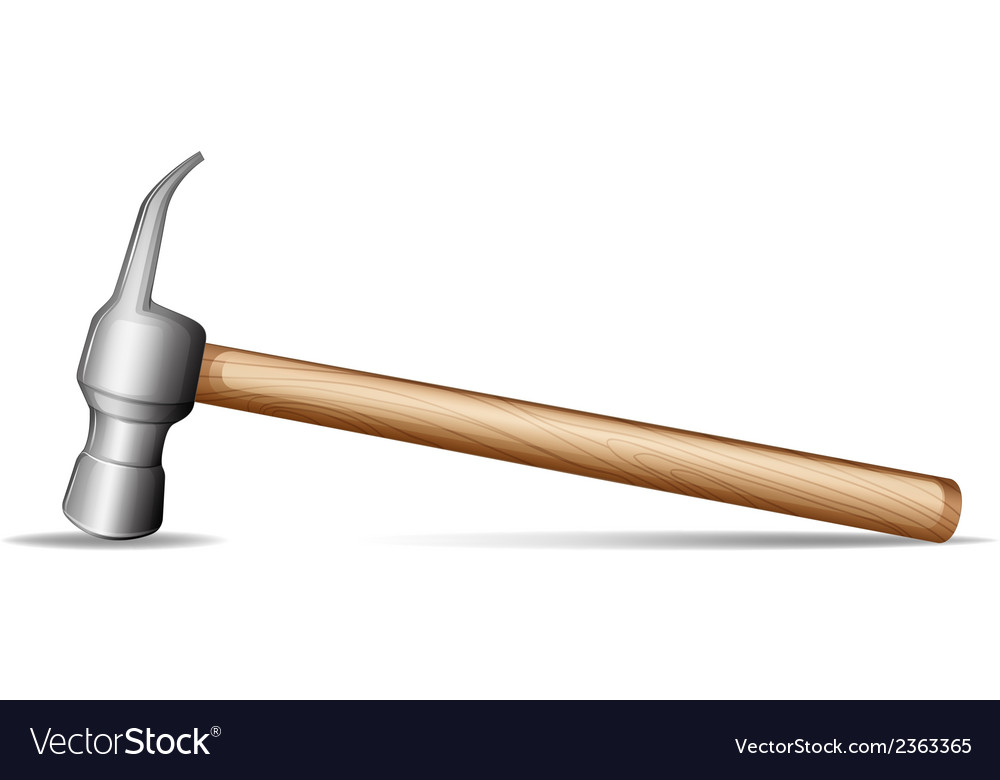 A wooden hammer vector | Price: 1 Credit (USD $1)