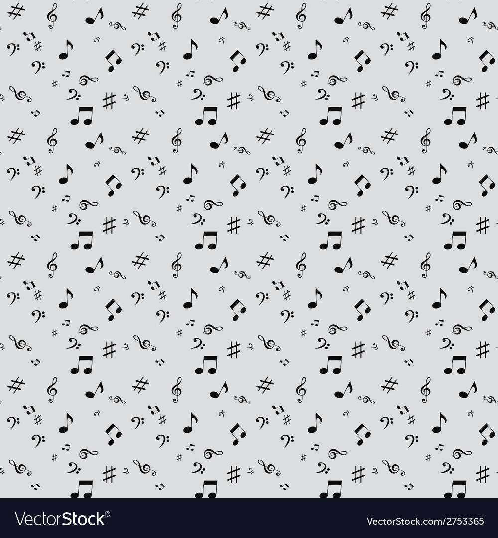 Abstract music seamless pattern background f vector | Price: 1 Credit (USD $1)