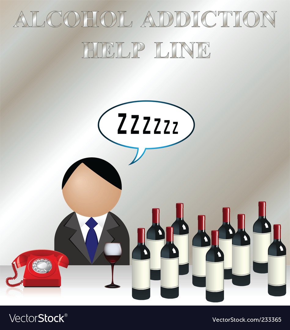 Alcohol addiction vector | Price: 3 Credit (USD $3)