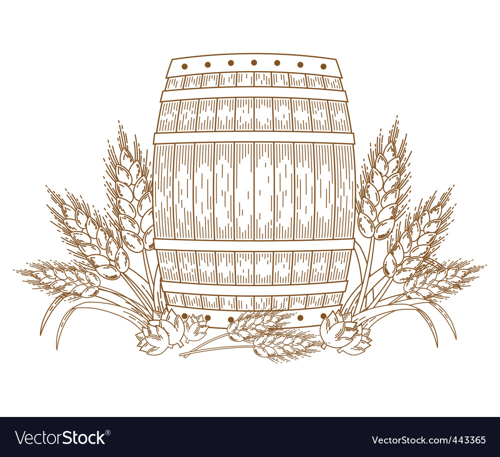 Barrel with wheat vector | Price: 1 Credit (USD $1)